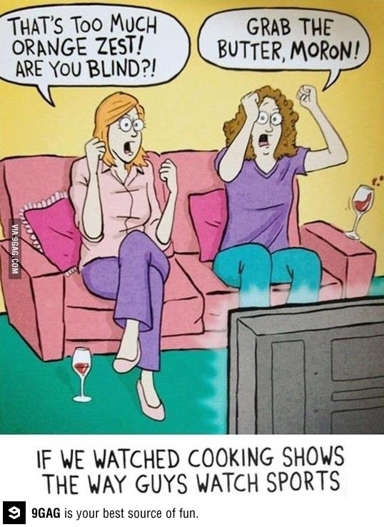 My family totally does this watching Chopped!