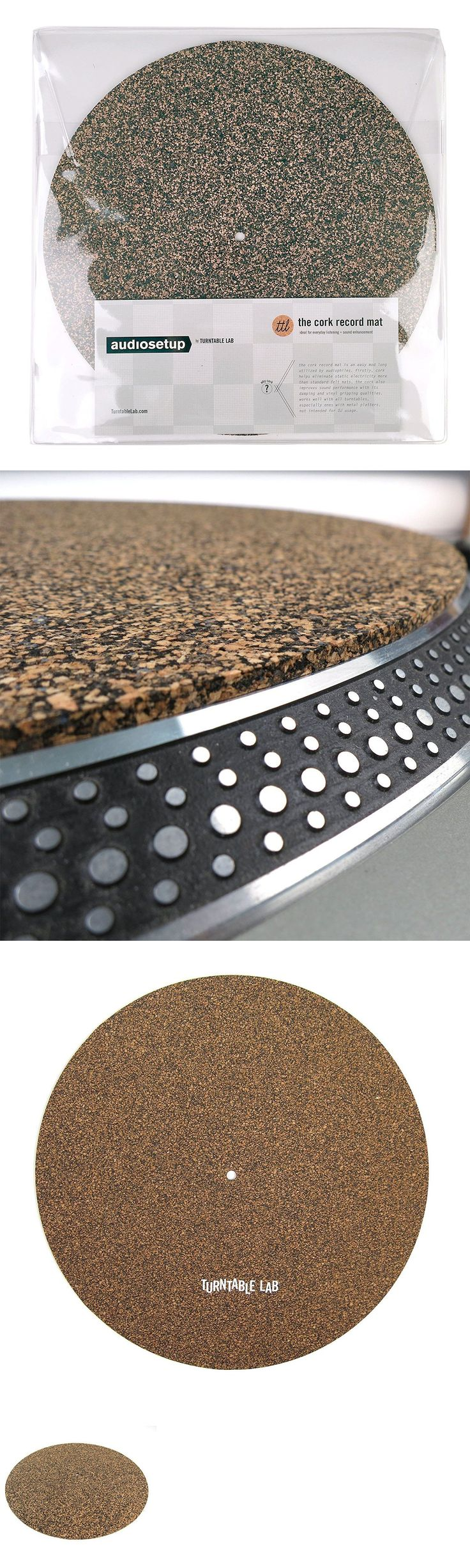 Record Player Turntable Parts: New Turntable Lab: Cork And Rubber Record Mat Free Shipping BUY IT NOW ONLY: $49.95