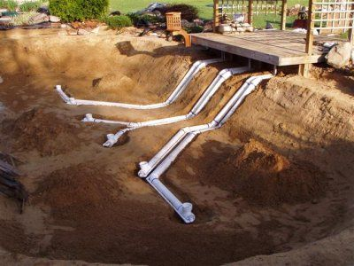 97 best images about water features ponds on pinterest for Koi pond bottom drain design