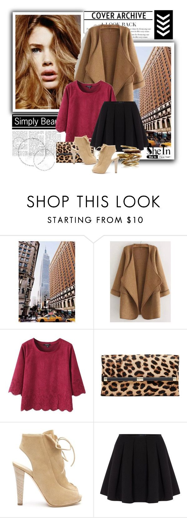 """""""Khaki Cardi"""" by lmichelle ❤ liked on Polyvore featuring National Geographic Home, Diane Von Furstenberg, Thakoon, Polo Ralph Lauren, B. Ella and Sheinside"""