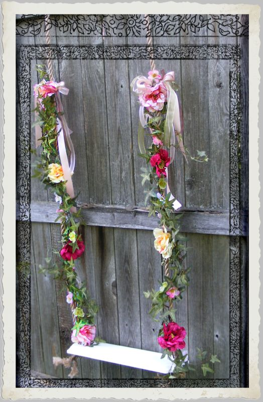 How to make a victorian inspired garden swing photo prop