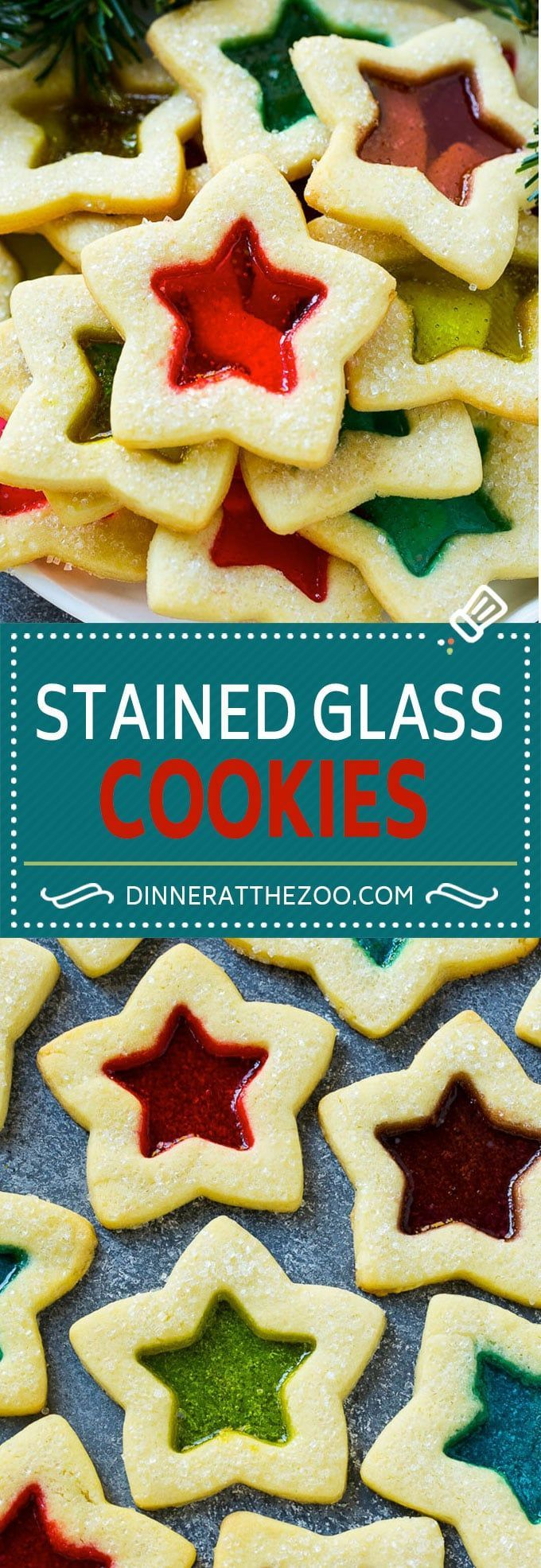 Stained Glass Cookies | Stained Glass Window Cookies | Sugar Cookies | Christmas Cookies