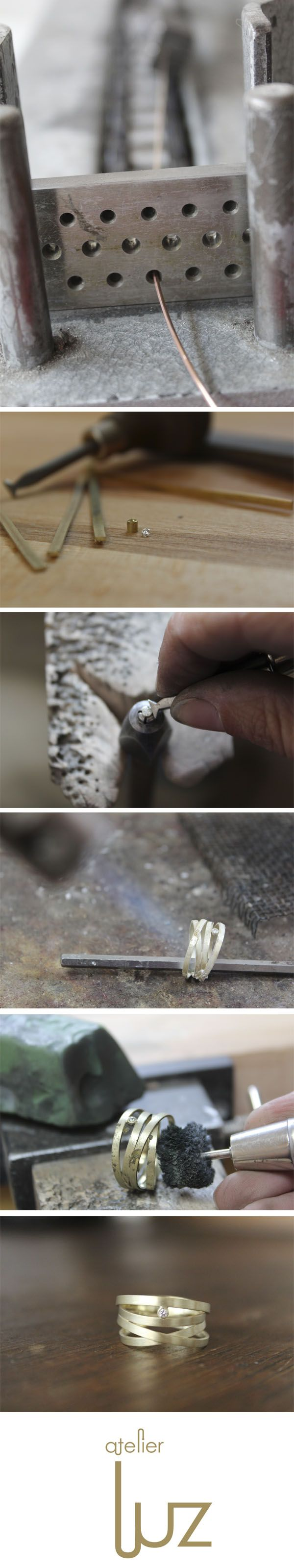 The making of ...one of my favourite rings with a cute diamond. www,atelierluz.nl