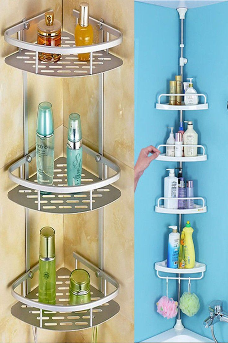 22 99 Gbp 2 3 4 Tier Telescopic Bathroom Corner Shower Shelf Organiser Aluminum No Rust A Tier Tel Diseño De Baños Disenos De Unas Decoración Del Hogar