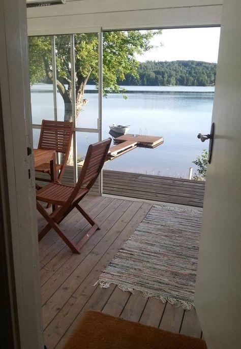 Ferienhaus in Alleinlage auf traumhaftem Seegrundstück mit Ruderboot, Kanu und …