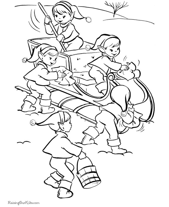 173 best images about Christmas Coloring Pages on