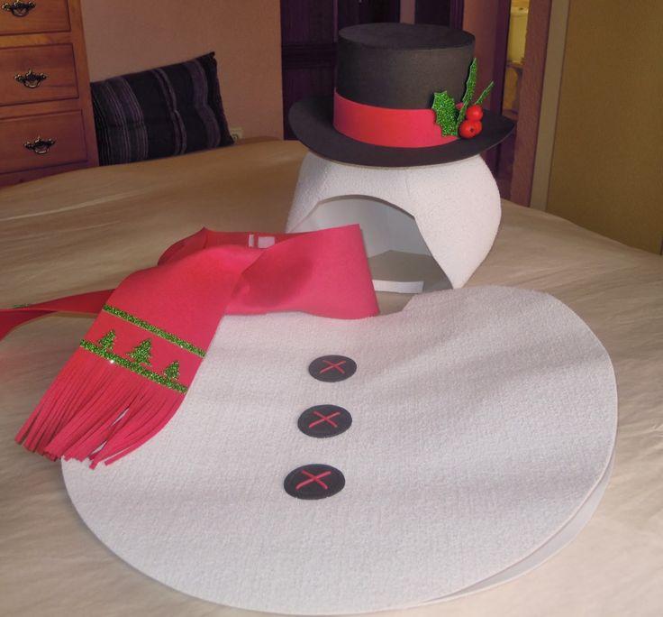 Muñeco nieve disfraz goma eva