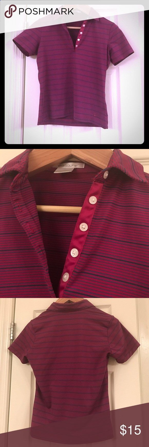 Nike striped golf shirt Nike FitDry Golf Shirt. Super cute in great condition Nike Tops Tees - Short Sleeve