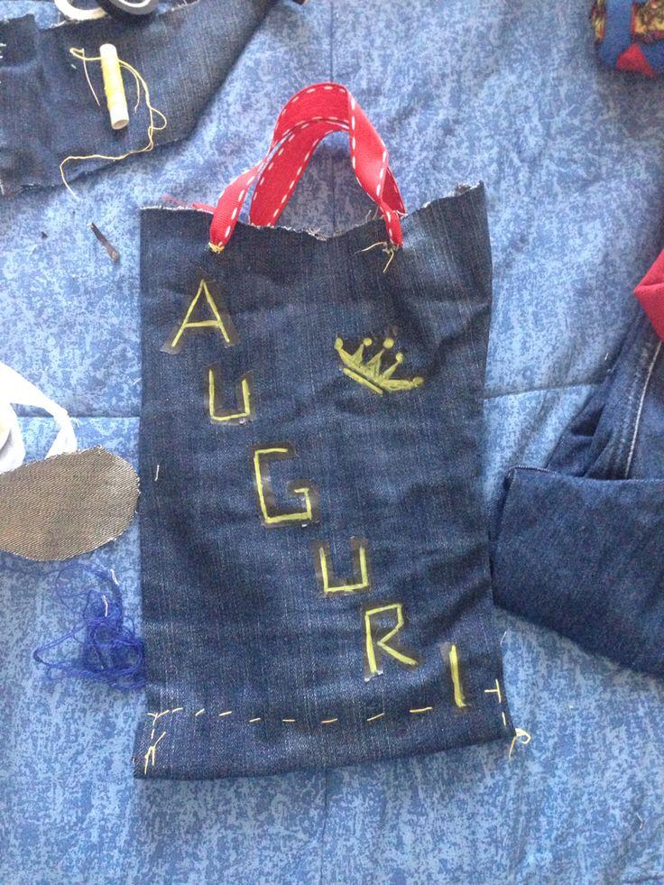 Sacchetto in jeans