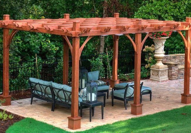 10 X 16 Cedar Gable Ramada Backyard Pavilion Hot Tub Gazebo Hot Tub Landscaping