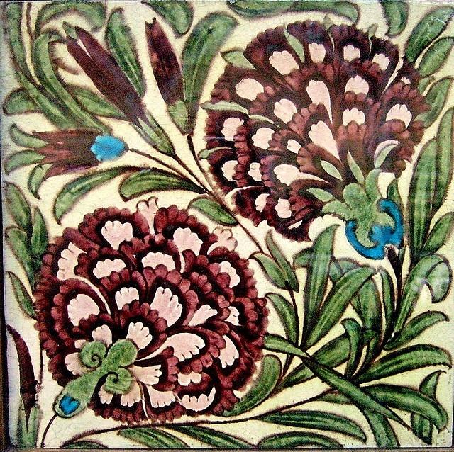 William De Morgan- tiles by Kotomicreations, via Flickr