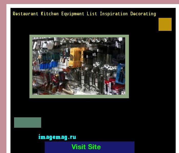 Restaurant Kitchen Equipment List Inspiration Decorating 200450 - The Best Image Search
