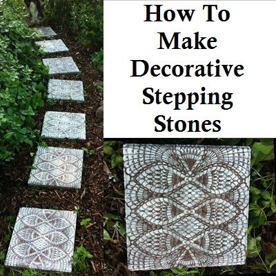 How To Make Decorative Stepping Stones For Your Garden Project ---read to the bottom- I like where after spraying with regular paint, you spray on top of that with glow in the dark paint for night time appeal... Pretty during the day, so very cool at night!