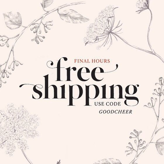 Final Hours- An early christmas gift that doubles as an excuse for a shopping spree?! Use code GOODCHEER to receive free shipping on all of your lovelies. Better hurry before it's too late! Promo ends at 11:59 pm PST, US orders only. (link in profile…)