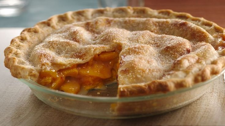 When fresh peaches are in season, make this delicious pie with convenient Pillsbury® Pet-Ritz® frozen pie crusts.