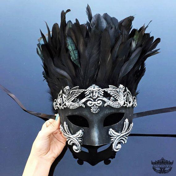 Men's Masquerade Mask Mardi Gras Mask Masquerade by 4everstore