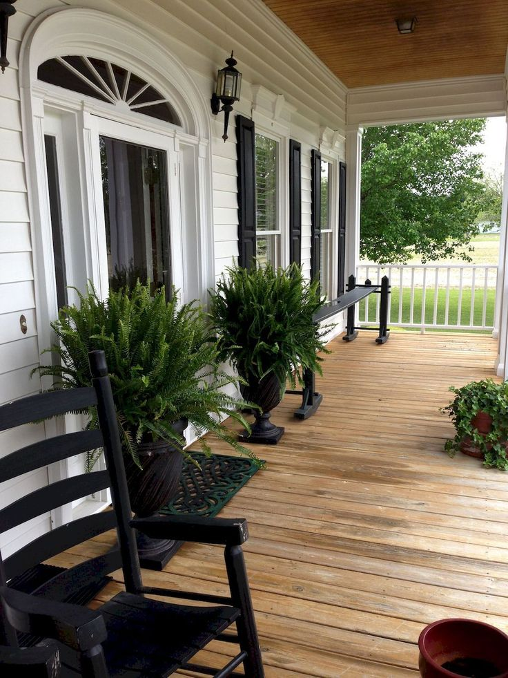 80 Modern Farmhouse Front Porch Decorating Ideas