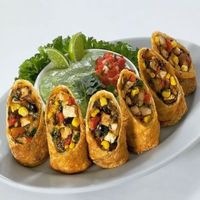 Southwestern Egg Rolls with Avacado Dipping Sauce