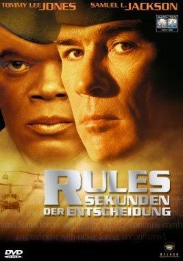 Rules of Engagement Die Regeln des Krieges  2000 USA,Canada,UK,Germany      IMDB Rating 6,2 (25.463)  Darsteller: Tommy Lee Jones, Samuel L. Jackson, Guy Pearce, Ben Kingsley, Bruce Greenwood,  Genre: Action, Drama, Thriller,  FSK: 16