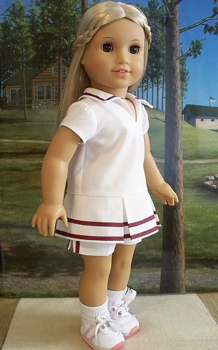 1970's tennis outfit for Julie or Ivy1970 S Tennis, A Girls Dresses, 1970S Tennis, Girls Dolls, Tennis Outfit, Amg Dolls, Ag Dolls, Dolls July, American Girls