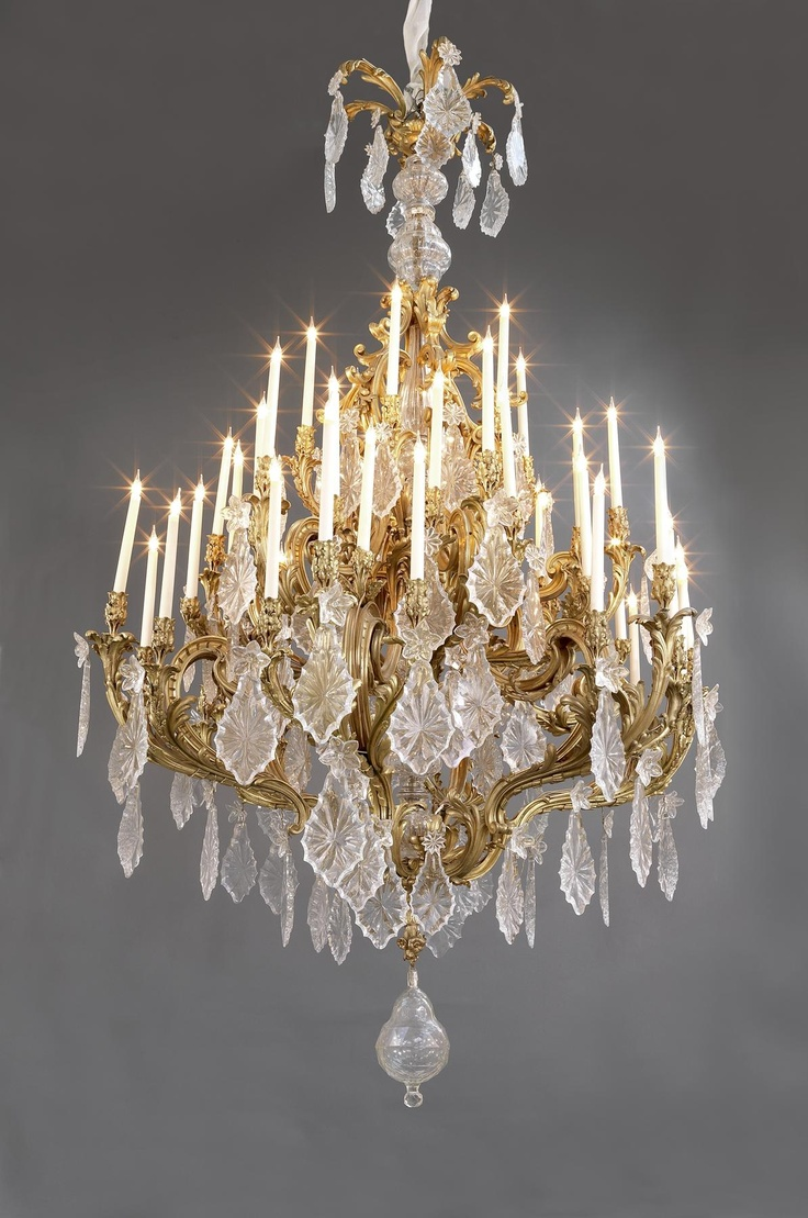 182 best dream lighting images on pinterest chandeliers night a monumental louis xv style gilt bronze and cut glass forty eight light chandelier arubaitofo Images