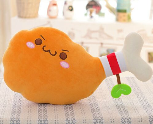 Gift for baby 1pc 35cm cartoon chicken drumstick funny plush doll novelty creative children girl stuffed toy