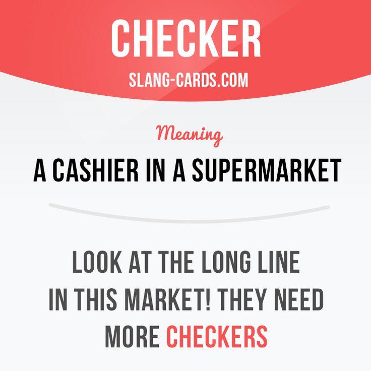 (超市的)收银员