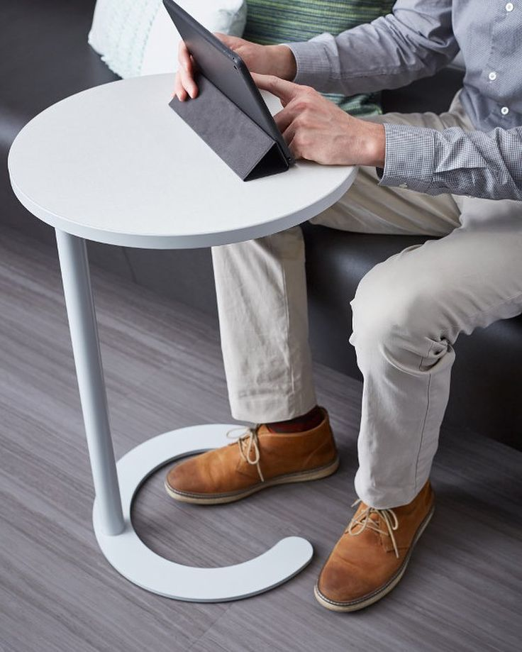 We work everywhere! Who's grabbed a spot at a coffee shop, hotel lobby, waiting room, student union or airport? The C-Table provides a personal worksurface within these non-traditional work or study spaces. #designmoves #thirdspace #loungeseating #coffeeshop #interiordesign #contractfurniture #workstyles #officetrends