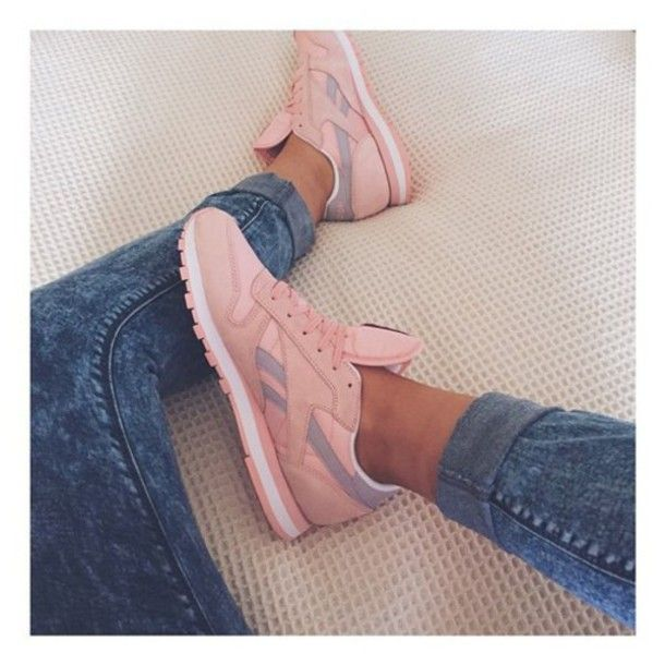 shoes rebook rose sneakers