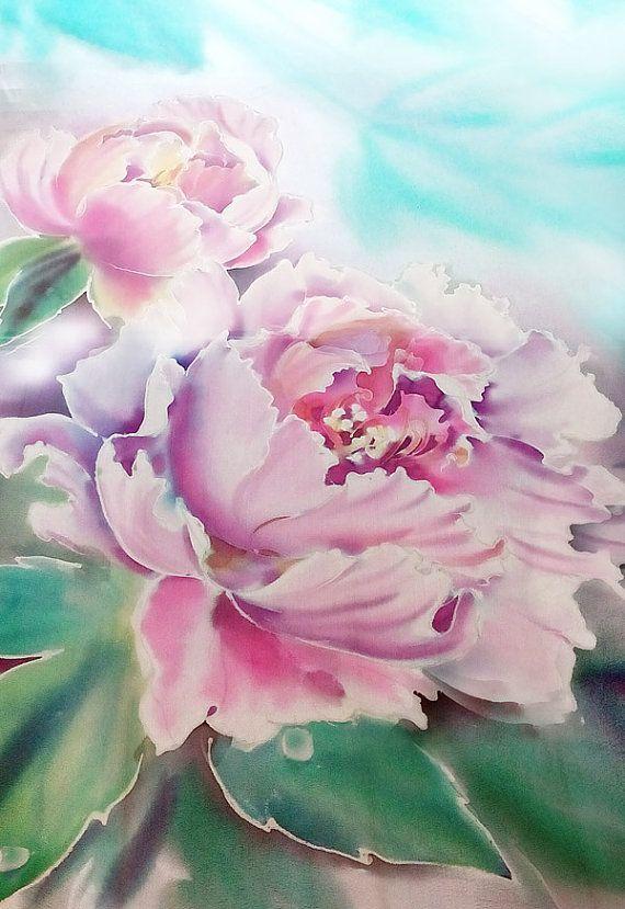 Silk Square Scarf - Peonies (Spring) by VIDA VIDA yUf0gMNHmP