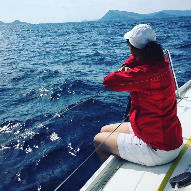 Segeln in Griechenland 🇬🇷 #soschön #greece #sailingtoern #sailingyacht #sailinggreece #sailinggreece2017 #musto #mustoevolution #hellyhansen #hellyhansenoffshore #mustooffshoregear