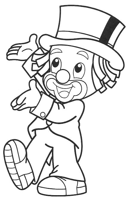 clown party circus coloring pages - photo#12