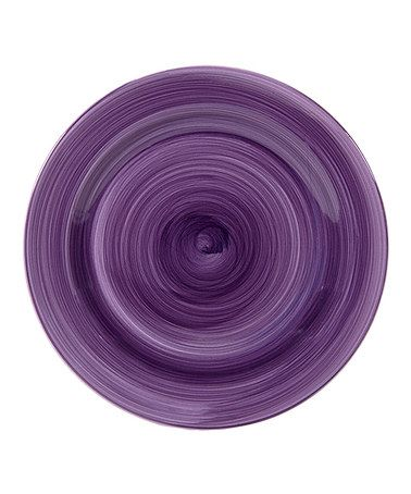 Take a look at this Purple Brush Stroke 10.5'' Dinner Plate - Set of Four by Home Essentials and Beyond on #zulily today!