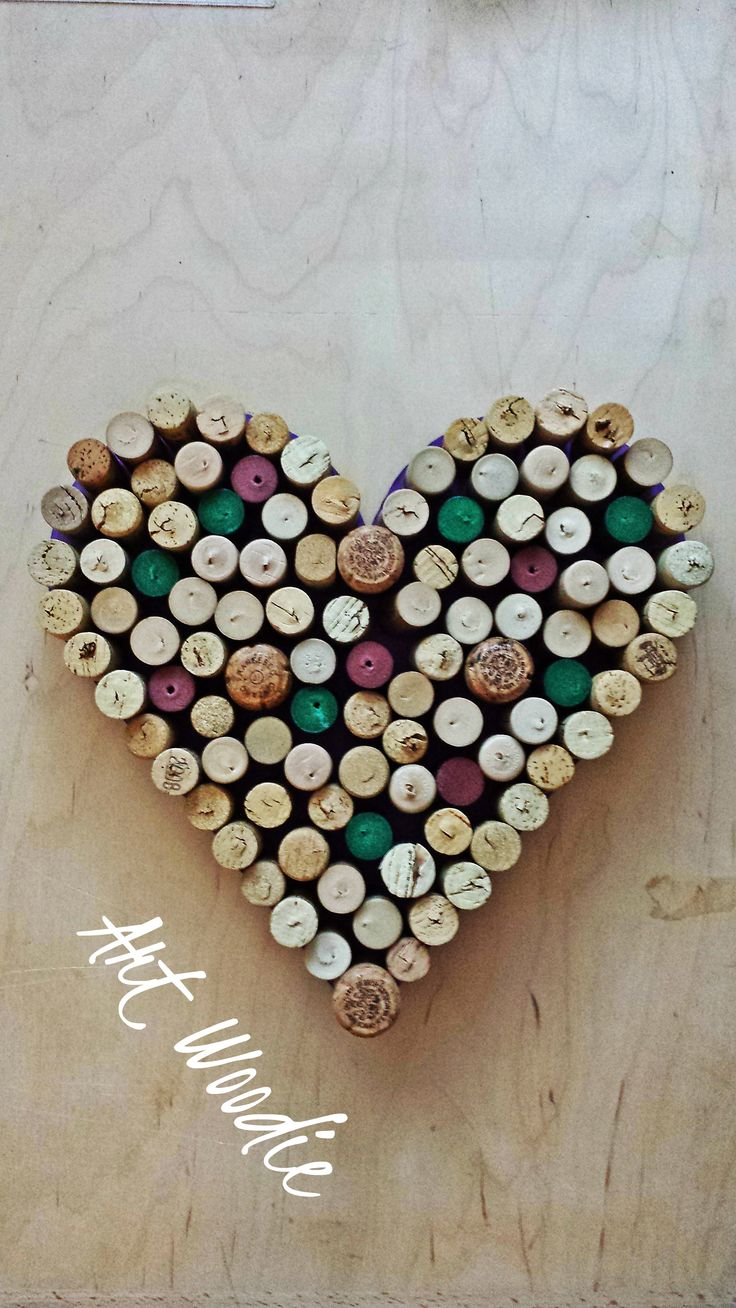 Heart made by corks for my big Love Lucy.