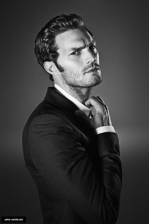 #Jamie Dornan. I'm not a fan of him being Christian but I like this picture of him.