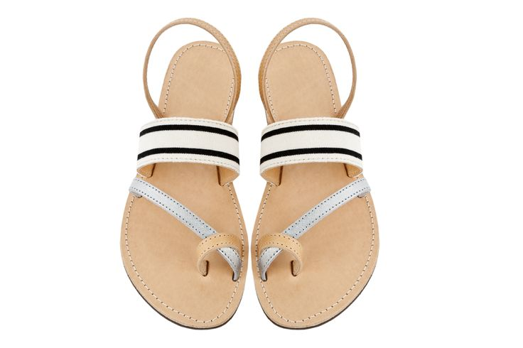 Isapera sandals : Kapari in Stripes
