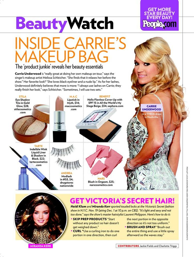 Inside Carrie's Makeup Bag - Beauty, Carrie Underwood : People.com