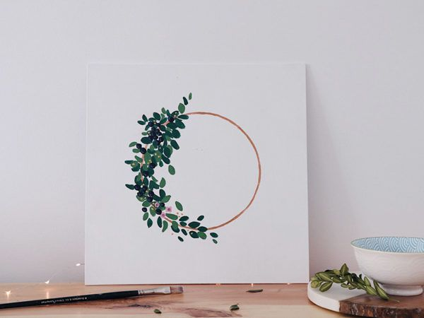 The newest additions to Halifax painter Jennifer Atkinson's collection are simple and whimsical floral wreath prints.