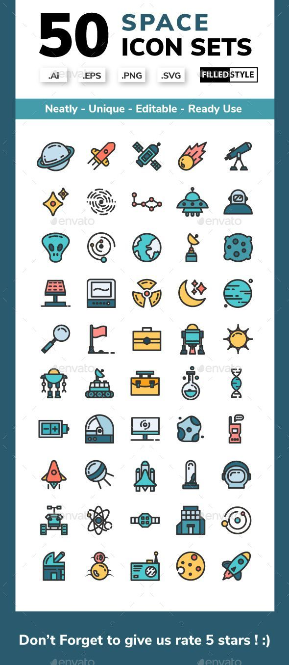 Space Filled Line Icons Style Fully Customisable Set Of Icons Icon Design Line Icon Icon Space Icons