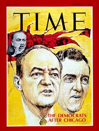 TIME Magazine Cover: Hubert H. Humphrey, Edmund Muskie -- Sep. 6, 1968