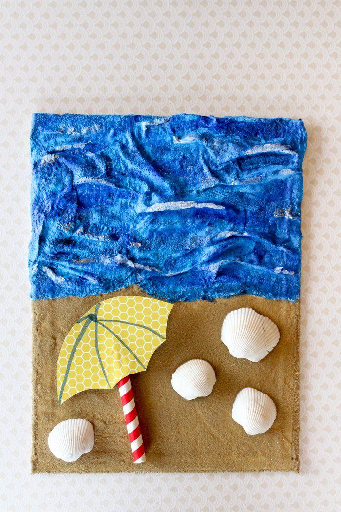 Sand and Sea Dimensional Art Sand art crafts, Sand art