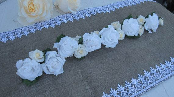 Garland Wedding White Ivory GIRLAND decoration by moniaflowers