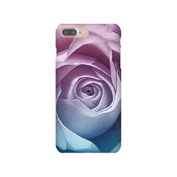 iPhone 6 6s 7 Plus Slim Snap Case Lavender Purple Pink Blue Gradient Rose Flower Nature Feminine iPhone SE Samsung Galaxy S7 Edge