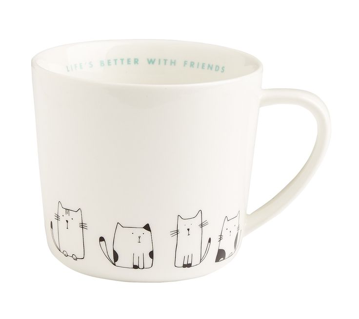 Bring a touch of Swedish style to your home or workspace with this adorable cup. Made from quality porcelain, you'll love the way it brightens your everyday tea or coffee break.