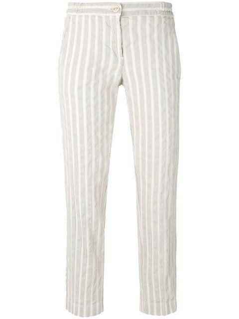 Купить Massimo Alba прямые полосатые брюки.
