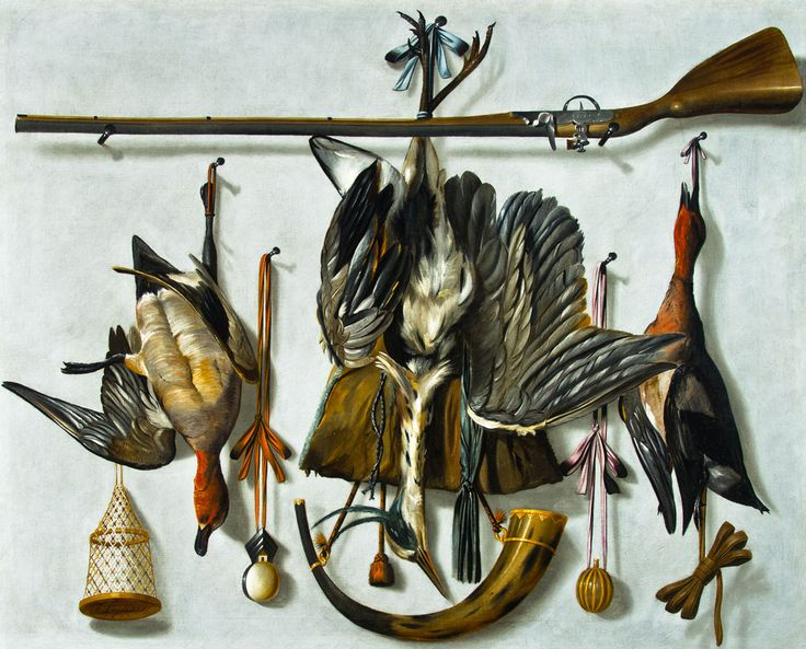 Johannes Leemans (The Hague 1633 – 1688 The Hague) - A Trompe l'Oeil Hunting…