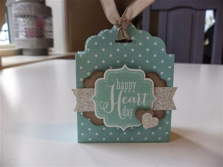 New Scalloped Tag Topper Punch used to make a sweet treat holder.