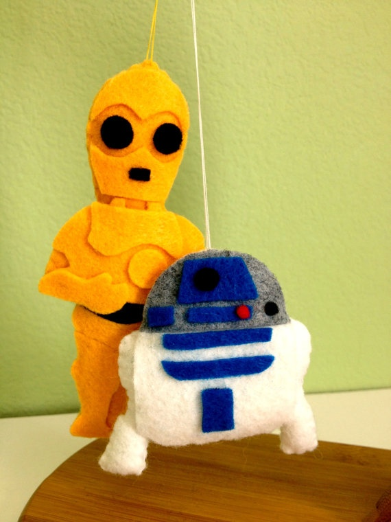 C3PO and R2D2 Star Wars Felties by twopeasinaspacepod on Etsy, $17.50
