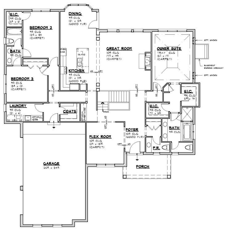 17 best images about ranch house plans on pinterest open for Mi homes ranch floor plans
