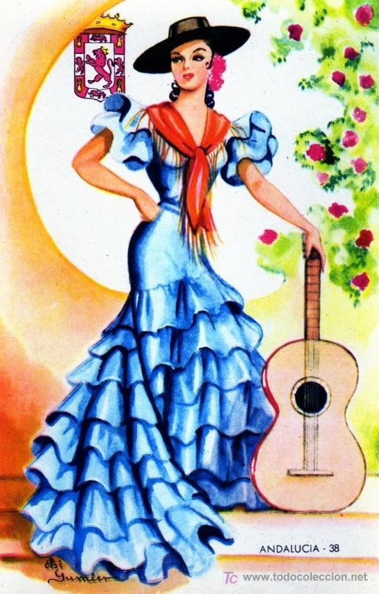 Traditional Spanish clothing This is a cool dress. Spanish performers often wear…